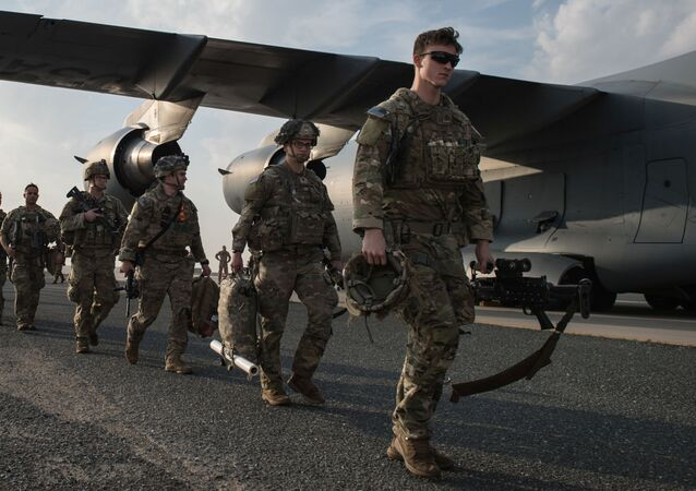 U.S. Army paratroopers from the 82nd Airborne Division arrive at Ali Al Salem Air Base, Kuwait, January 2, 2020