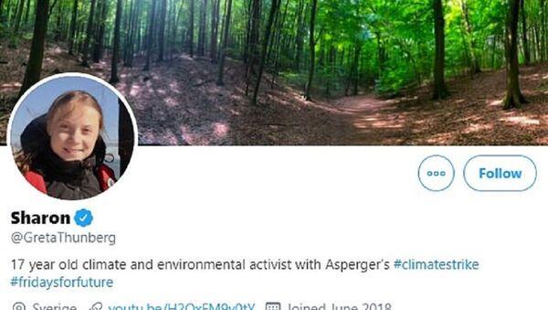 Greta Thunberg changes her Twitter moniker to 'SHARON' - Sputnik International