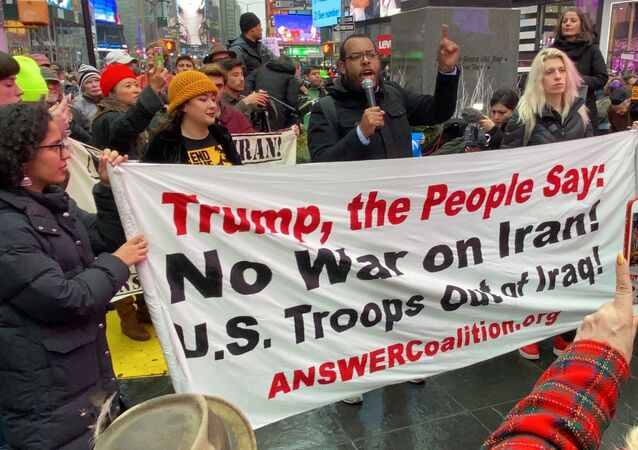 Anti-War Protesters Rally in New York Following Soleimani's Killing