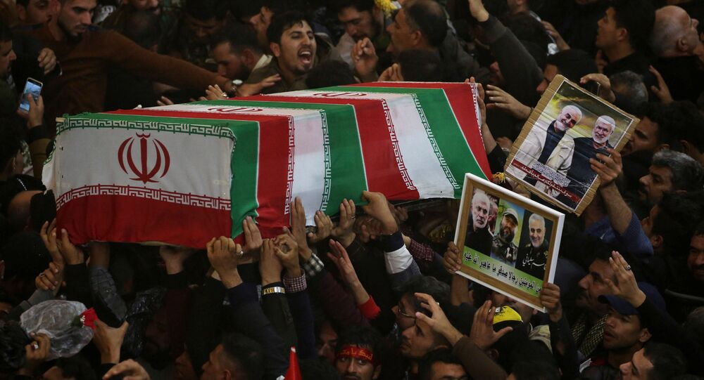 Mourners attend the funeral procession of the Iranian Major-General Qassem Soleimani, head of the elite Quds Force of the Revolutionary Guards, and the Iraqi militia commander Abu Mahdi al-Muhandis, who were killed in an air strike at Baghdad airport, in Kerbala, Iraq, January 4, 2020.