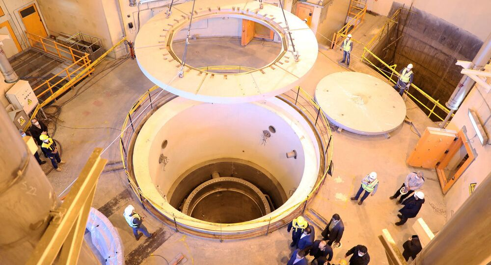 A view of the water nuclear reactor at Arak, Iran December 23, 2019.