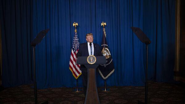 Donald Trump delivers remarks on Iran - Sputnik International