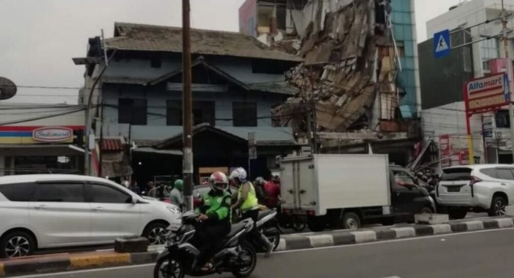 A five-story building collapsed in Jakarta, Indonesia on 6 January 2020