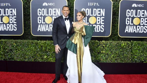 Alex Rodriguez and Jennifer Lopez attend the 77th Annual Golden Globe Awards at The Beverly Hilton Hotel on January 05, 2020 in Beverly Hills, California. - Sputnik International