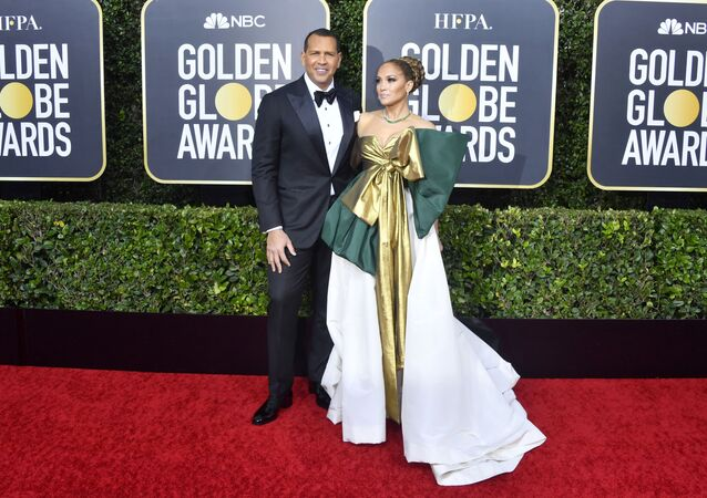 Alex Rodriguez and Jennifer Lopez attend the 77th Annual Golden Globe Awards at The Beverly Hilton Hotel on January 05, 2020 in Beverly Hills, California.