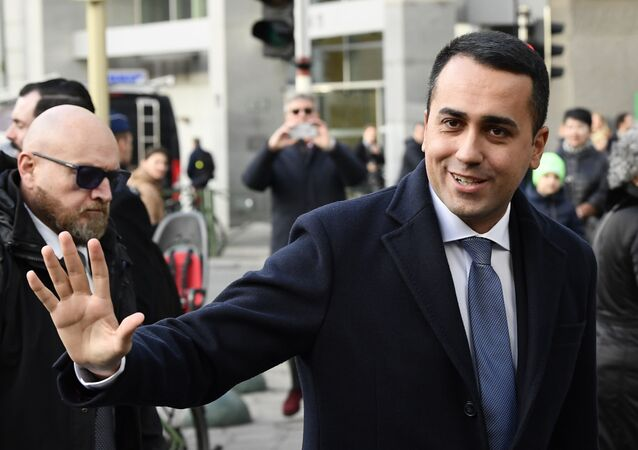 Italian Foreign Affairs Minister Luigi Di Maio in Brussels