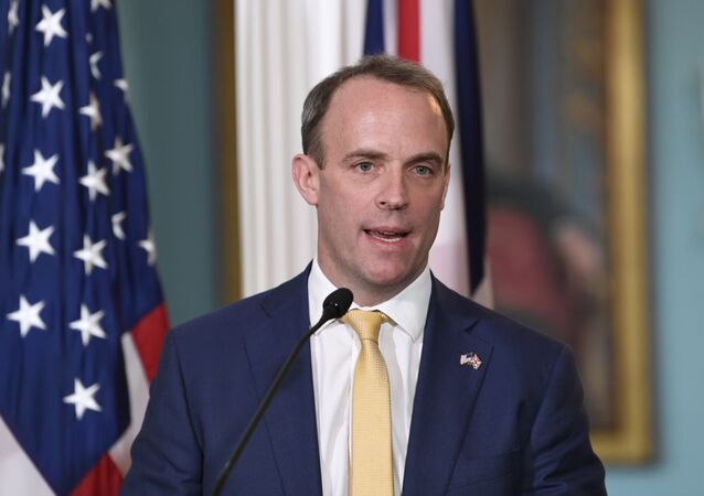 Britain's Foreign Secretary Dominic Raab