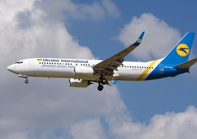 Ukraine International Airlines Boeing 737-800 with the registration UR-PSR lands at Budapest Ferenc Liszt Airport, Hungary May 26, 2018. Picture taken May 26, 2018