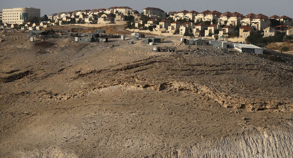 The Israeli settlement of Maale Adumim in the occupied West Bank on the outskirts of Jerusalem