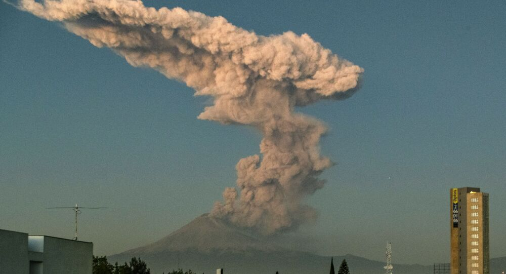 The Popocatepetl Volcano in central Mexico