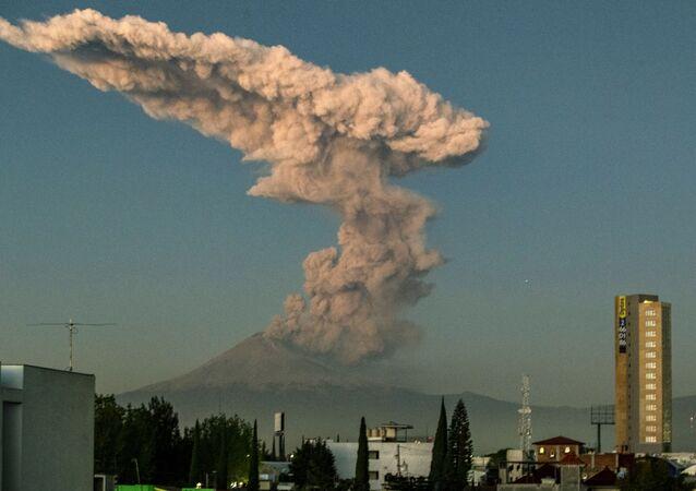 The Popocatepetl Volcano in central Mexico