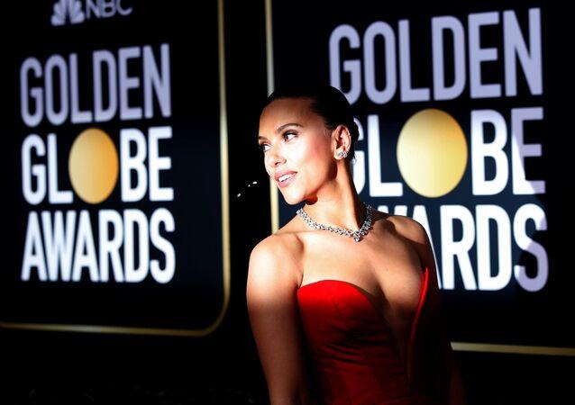 77th Golden Globe Awards - Arrivals - Beverly Hills, California, US, 5 January 2020 - Scarlett Johansson.