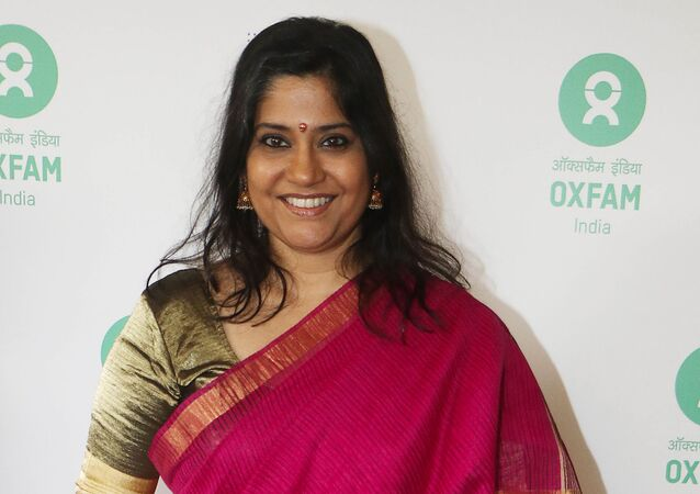 Indian Bollywood actress Renuka Shahane attends the Oxfam Best Film on Gender Equality award at Jio MIMI film festival in Mumbai on October 16, 2017