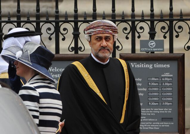 Sayyid Haitham bin Tariq Al Said of Oman arrives at the West Door of Westminster Abbey in London for the wedding of Britain's Prince William and Kate Middleton, on April 29, 2011.