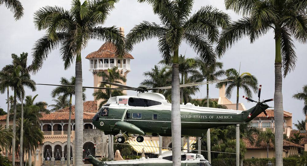 Marine One at Mar-a-Lago