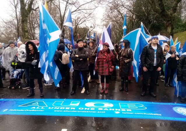 Pro-independence march held in Glasgow, Scotland on 11 Januray, 2020