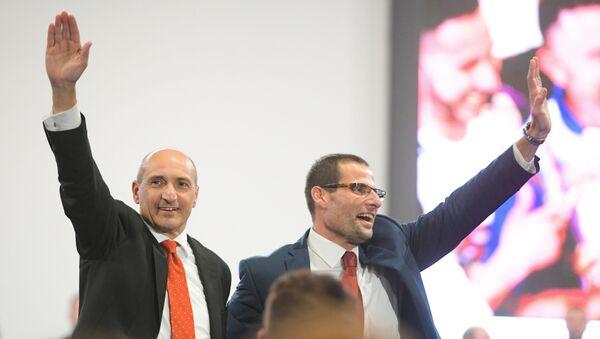 Labour party leader candidates Chris Fearne (L) and Robert Abela (R) - Sputnik International