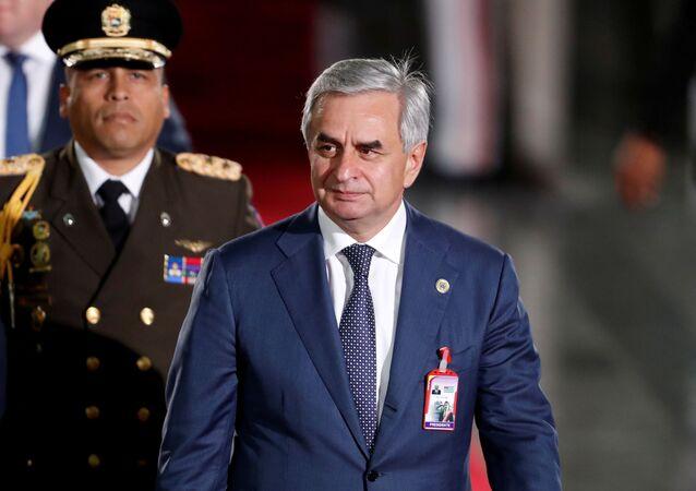 The president of the breakaway Georgian region of Abkhazia, Raul Khajimba, arrives to attend Venezuelan President Nicolas Maduro's ceremonial swearing-in in Caracas, Venezuela January 10, 2019.