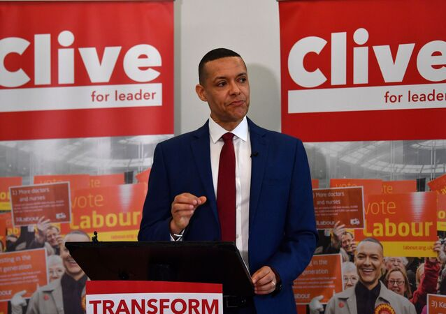 British Labour politician, Member of Parliament (MP) for Norwich South and Labour leadership hopeful Clive Lewis sets out his vision for the party at an event in Brixton, south London on January 10, 2020