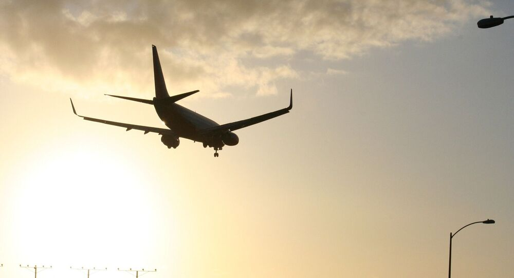 LAX plane landing