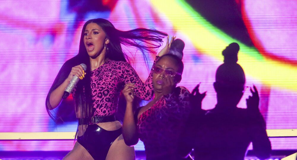 Cardi B performs during the first weekend of the Austin City Limits Music Festival in Zilker Park