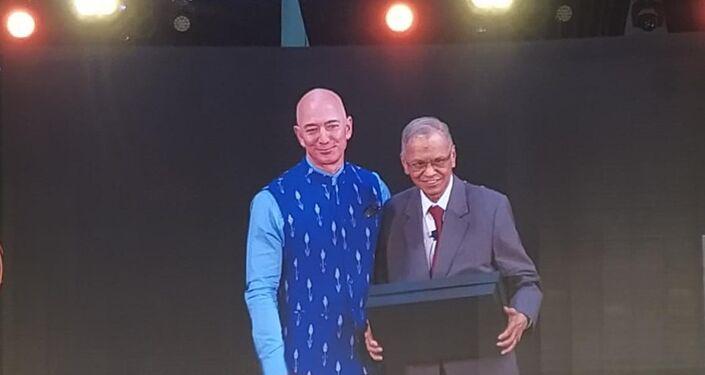 Amazon Chief Jeff Bezos in India