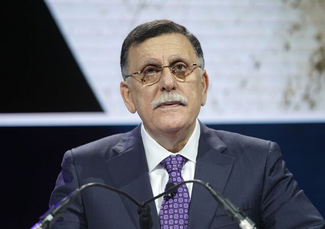 Fayez Al-sarraj, Prime Minister, Government Of National Accord Of Libya, speaks onstage during the 2019 Concordia Annual Summit - Day 1 at Grand Hyatt New York on September 23, 2019 in New York City.