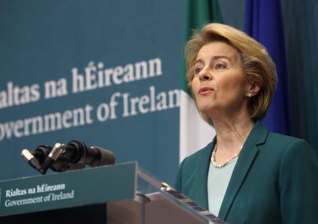 European Commission President Ursula von der Leyen speaks during a news conference at Government Buildings in Dublin, Ireland January 15, 2020.