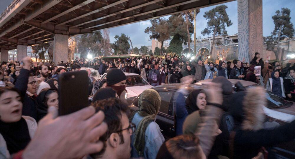 Protesters Demonstrate in Tehran