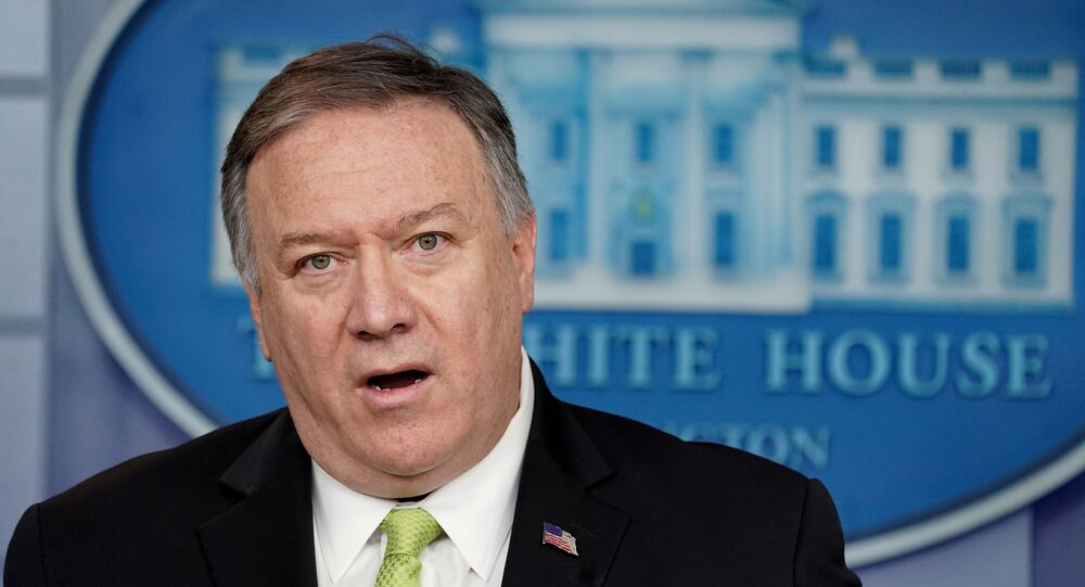 U.S. Secretary of State Mike Pompeo announces new sanctions on Iran in the Brady Press Briefing Room of the White House in Washington, U.S., January 10, 2020.