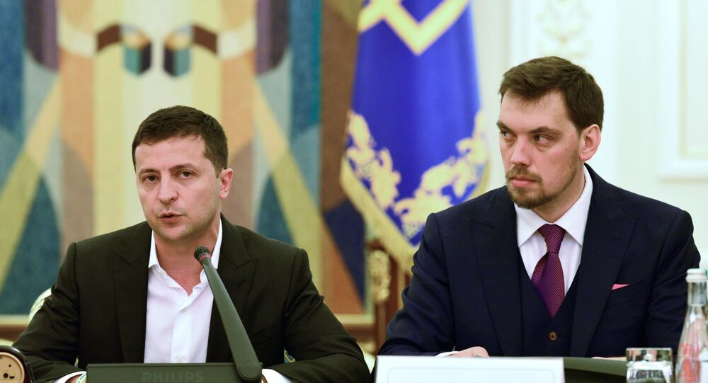 Ukrainian President Volodymyr Zelensky and Prime Minister Oleksiy Honcharuk