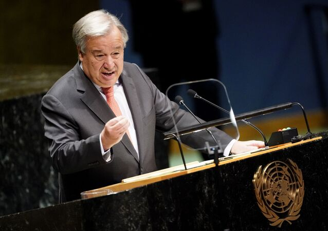 United Nations Secretary General Antonio Guterres addresses the opening of the 74th session of the United Nations General Assembly at U.N. headquarters in New York City, New York, U.S., September 24, 2019.