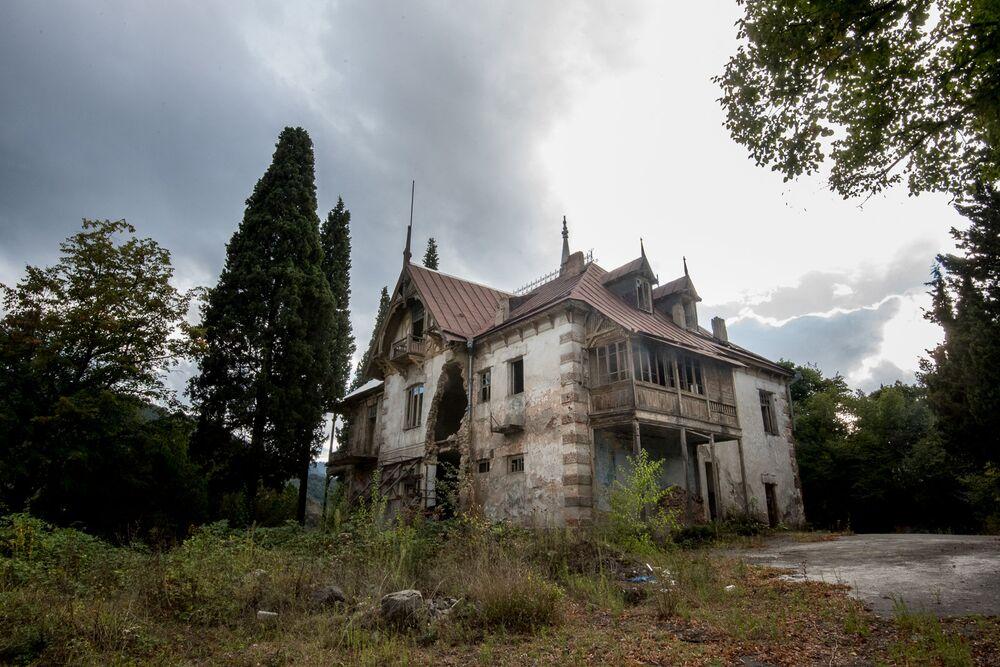 Abandoned castle of philanthropist Mikhail Aramyants in Armenia