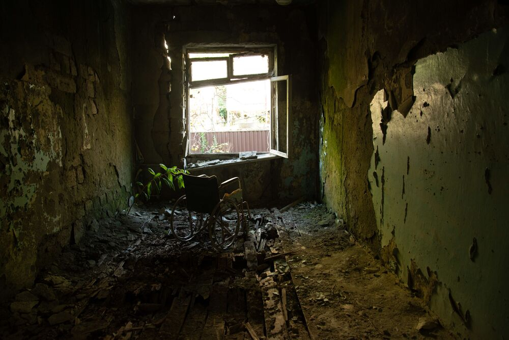 Abandoned music school in Gagra, Abkhazia.