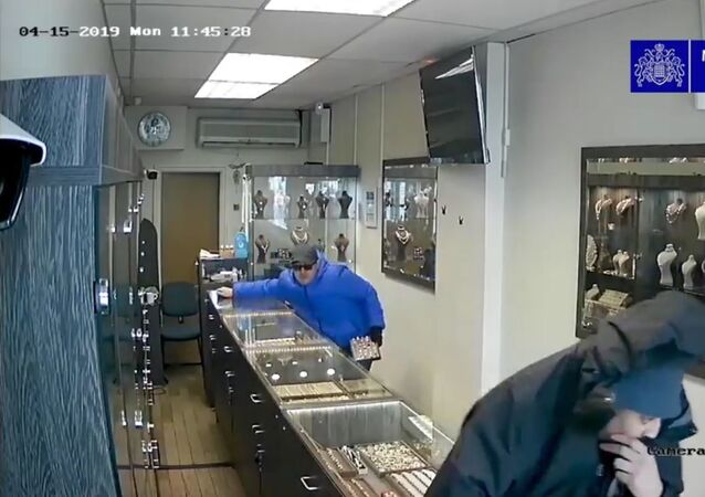 Viral CCTV footage of a robbery in Harringey, London