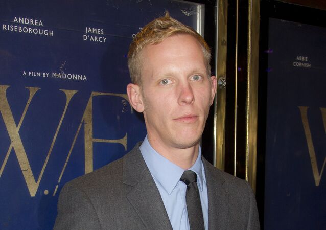 Laurence Fox arrives for the BFI London Film Festival gala screening of 'W.E.' at a central London Cinema, Sunday, Oct. 23, 2011.