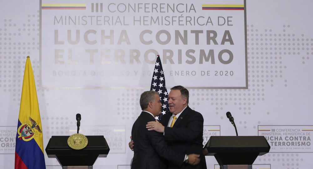 Colombian President Ivan Duque and US Secretary of State Mike Pompeo