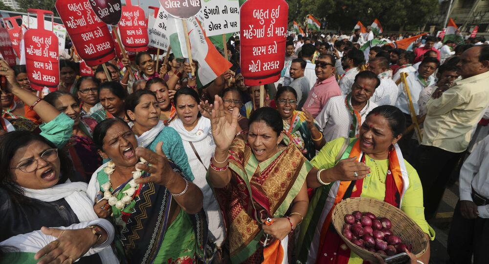 The protest against unemployment, rising inflation and, what they call, the government's anti-people and anti-farmer policies. India (File)