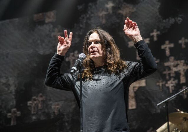 Ozzy Osbourne of Black Sabbath performs at Ozzfest 2016 at San Manuel Amphitheater on September 24, 2016 in San Bernardino, Calif.