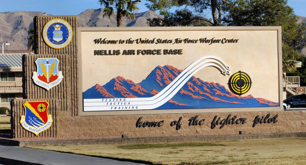Welcome To Nellis AFB Sign