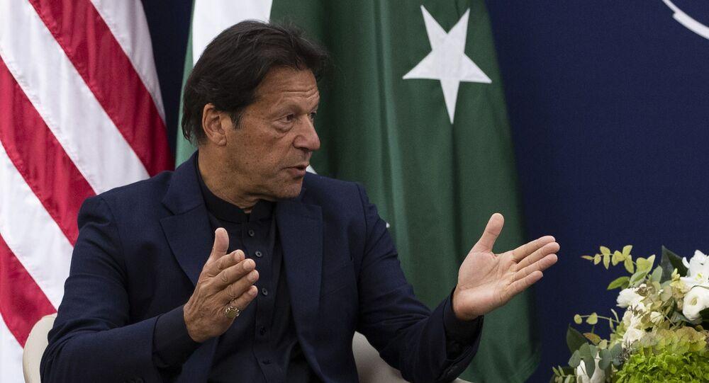 Pakistani Prime Minister Imran Khan at the World Economic Forum, Tuesday, 21 January 2020, in Davos, Switzerland