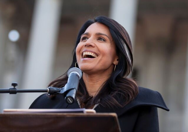 Democratic U.S. presidential candidate Rep. Tulsi Gabbard speaks during Martin Luther King Jr. (MLK) Day in Columbia, South Carolina, U.S. January 20, 2020