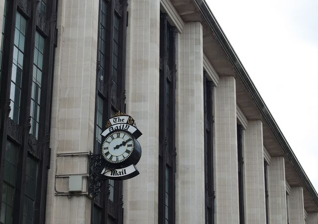 The Daily Mail clock, on the Young Street side of the Barkers building just off Kensington High Street