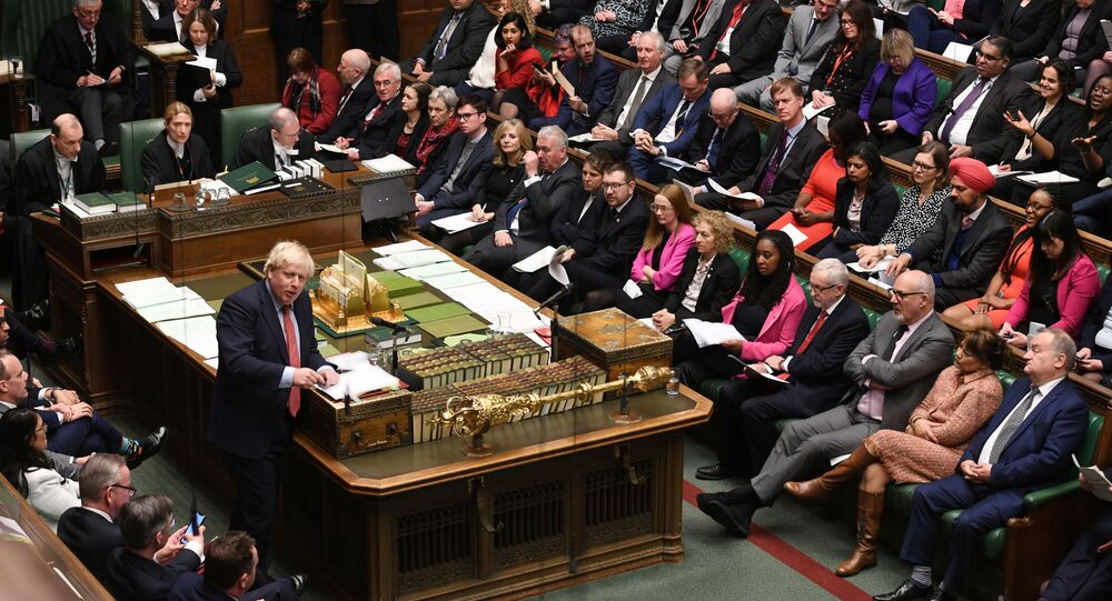 Britain's Prime Minister Boris Johnson speaks during the weekly question time debate in Parliament in London, Britain January 22, 2020.