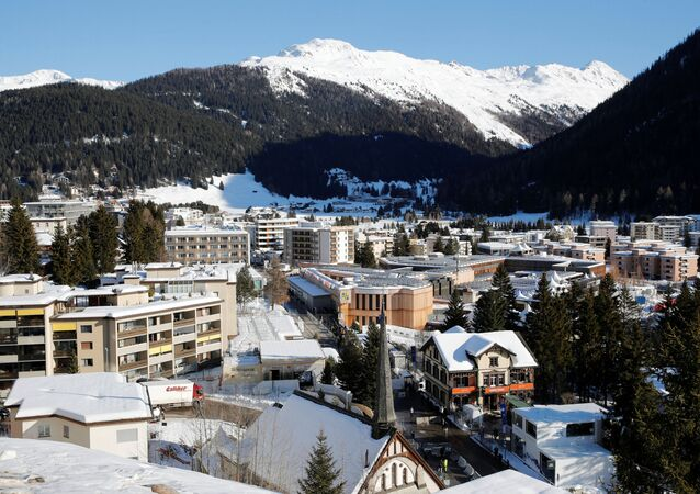 A general view shows the the congress center, the venue of the World Economic Forum (WEF) and the Alpine resort of Davos, Switzerland January 22, 2020