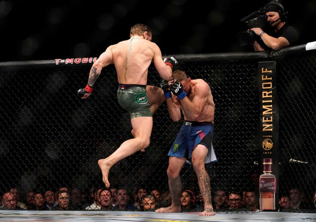 MMA Mixed Martial Arts - UFC 246 - Welterweight - Conor McGregor v Donald Cerrone - T-Mobile Arena, Las Vegas, United States - January 18, 2020  Conor McGregor in action against Donald Cerrone