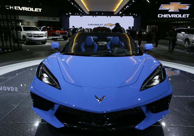 Chevrolet's 2020 Chevrolet Corvette Stingray Convertible is displayed at the AutoMobility LA Auto Show in Los Angeles Wednesday, Nov. 20, 2019.