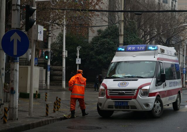 An ambulance in Wuhan, China