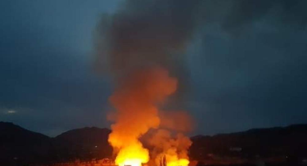 Fire in Aragua, Venezuela