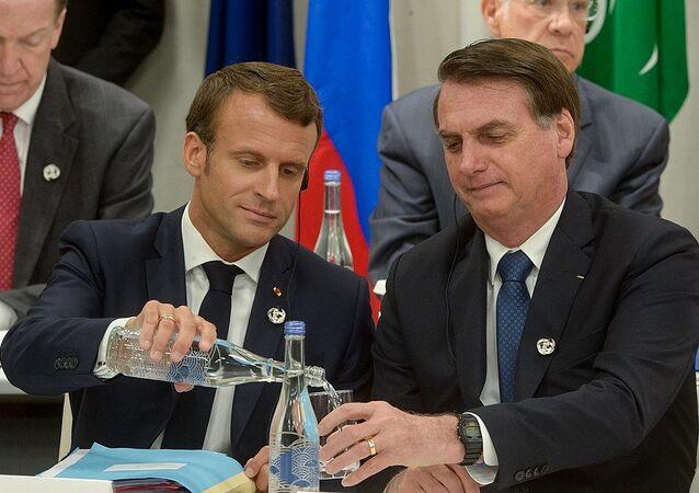 Macron and Bolsonaro